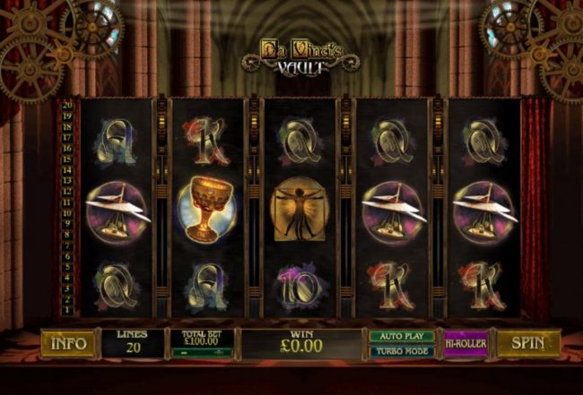 Unleashed featuring the Video Slots Da Vinci's Vault with a maximum payout of $50,000