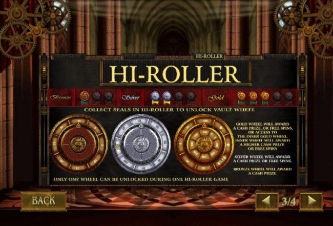 Da Vinci's Vault :: Hi-Roller Rules