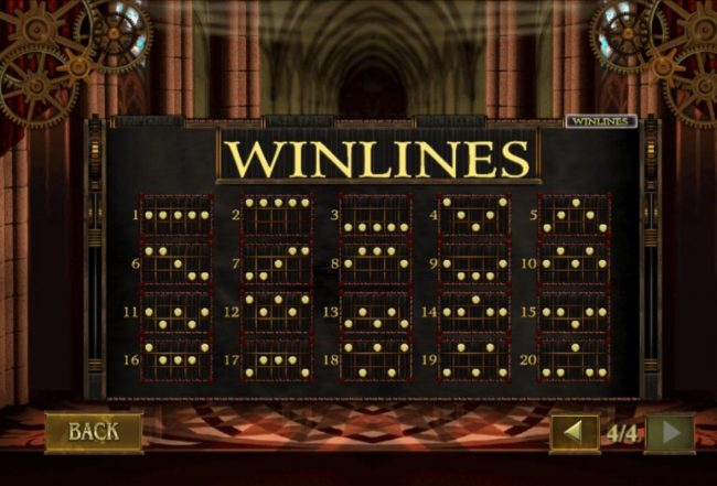 Da Vinci's Vault :: Paylines 1-20