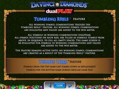 Caesars featuring the Video Slots Da Vinci Diamonds Dual Play with a maximum payout of $250,000