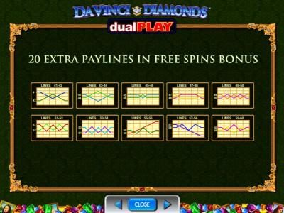 Winstar featuring the Video Slots Da Vinci Diamonds Dual Play with a maximum payout of $250,000