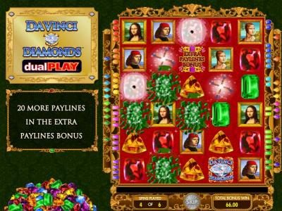 888 Casino featuring the Video Slots Da Vinci Diamonds Dual Play with a maximum payout of $250,000