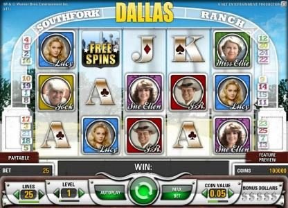 Bet At Casino featuring the Video Slots Dallas with a maximum payout of $50,000