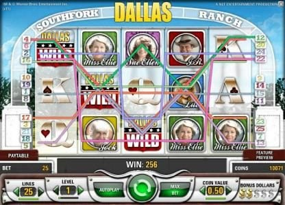 Trada featuring the Video Slots Dallas with a maximum payout of $50,000