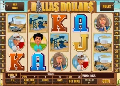 Play slots at Abo Casino: Abo Casino featuring the Video Slots Dallas Dollars with a maximum payout of $10,000
