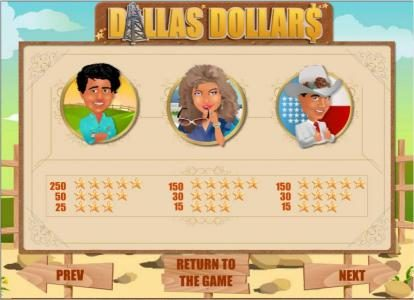 Llama Casino featuring the Video Slots Dallas Dollars with a maximum payout of $10,000