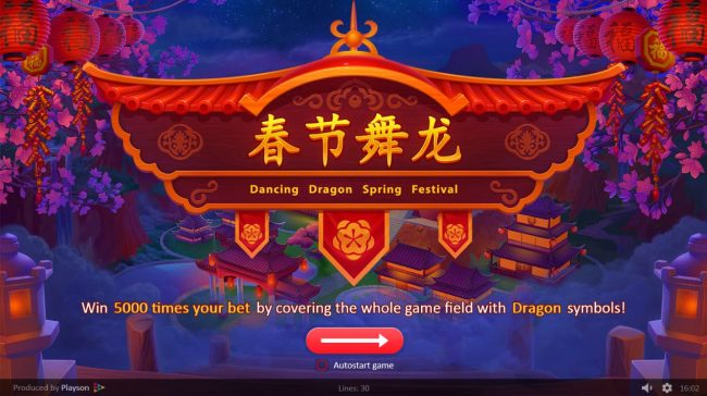 All Wins Casino featuring the Video Slots Dancing Dragon Spring Festival with a maximum payout of $450,000