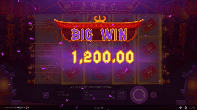 VipSpel featuring the Video Slots Dancing Dragon Spring Festival with a maximum payout of $450,000
