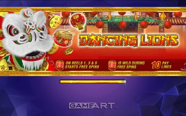 NordiCasino featuring the Video Slots Dancing Lions with a maximum payout of $2,500