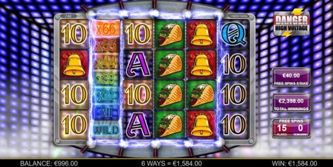 Sun Play featuring the Video Slots Danger High Voltage with a maximum payout of $160,000