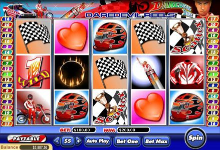 Red Stag featuring the Video Slots Daredevil Dave with a maximum payout of $100,000