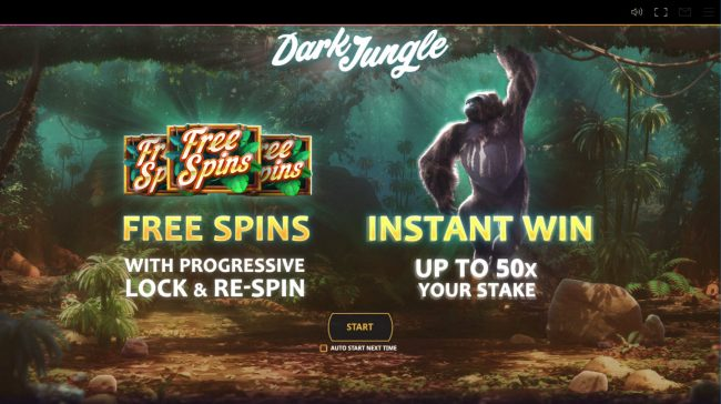 Play slots at Zet Casino: Zet Casino featuring the Video Slots Dark Jungle with a maximum payout of $20,000