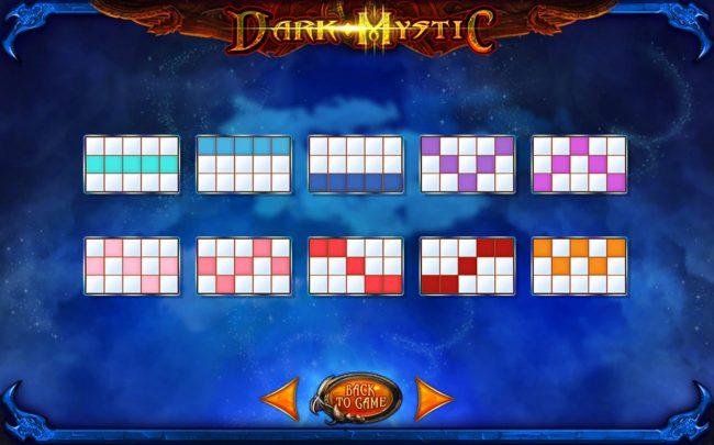 Dark Mystic :: Paylines 1-10