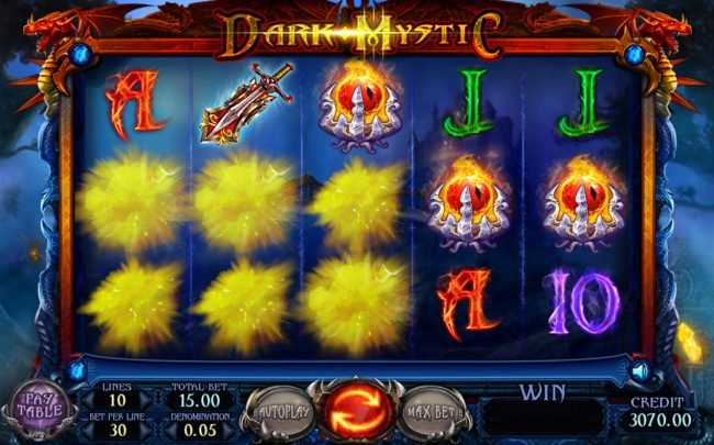 Jellybean Casino featuring the Video Slots Dark Mystic with a maximum payout of $7,500