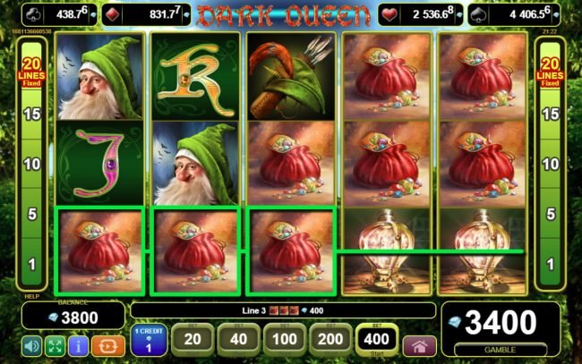 Play slots at iviCasino: iviCasino featuring the Video Slots Dark Queen with a maximum payout of $20,000