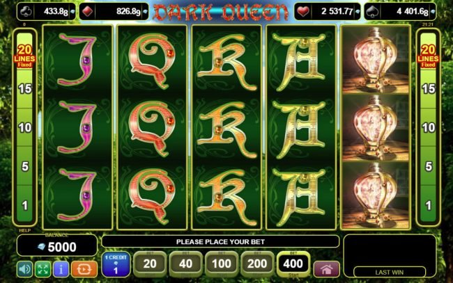 Play slots at Brazino777: Brazino777 featuring the Video Slots Dark Queen with a maximum payout of $20,000