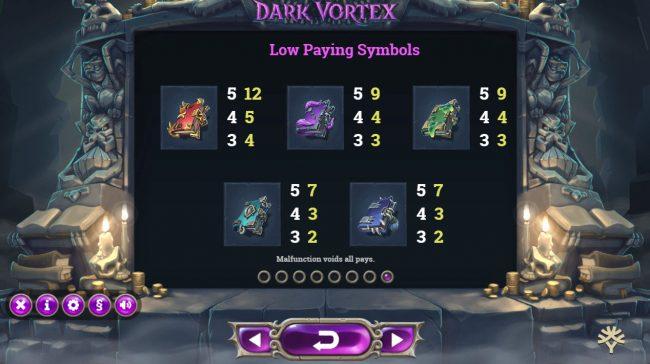 Dark Vortex :: Low Value Symbols