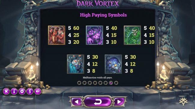Dark Vortex :: High Value Symbols