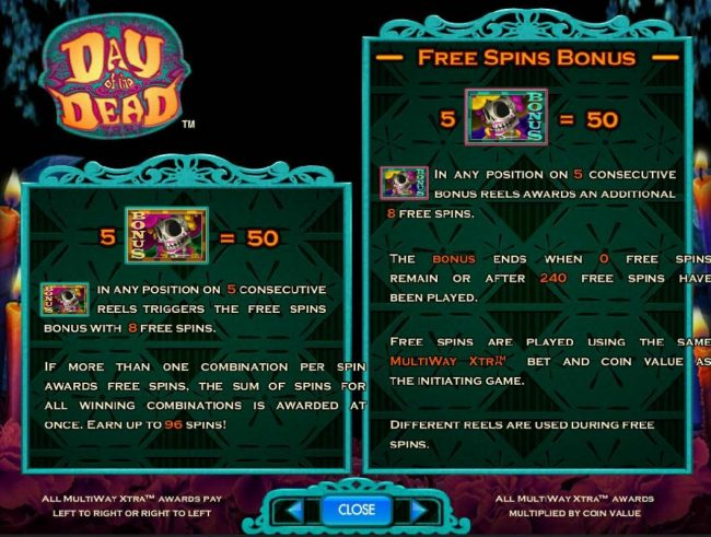 Betfred featuring the Video Slots Day of the Dead with a maximum payout of $250,000