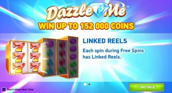 Spinzilla featuring the Video Slots Dazzle Me with a maximum payout of $152,000