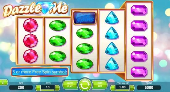 Winzino featuring the Video Slots Dazzle Me with a maximum payout of $152,000