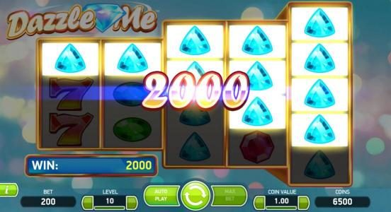 Freaky Vegas featuring the Video Slots Dazzle Me with a maximum payout of $152,000