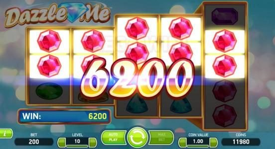 10Bet featuring the Video Slots Dazzle Me with a maximum payout of $152,000