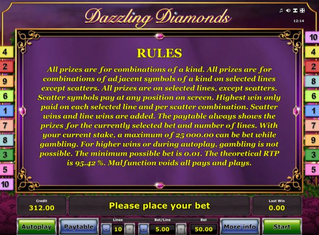 Dazzling Diamonds :: General Game Rules