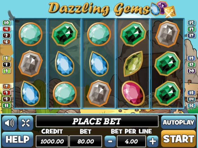 Play slots at Venetian: Venetian featuring the Video Slots Dazzling Gems with a maximum payout of $24,000