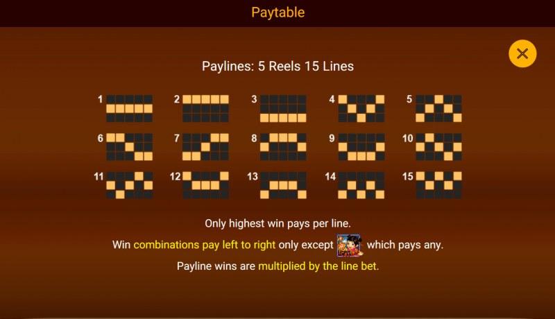 Da Fu Xiao Fu :: Paylines 1-15