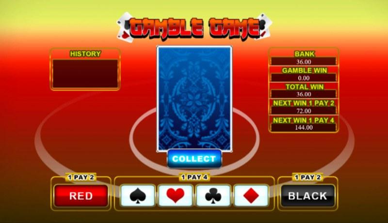 Da Fu Xiao Fu :: Black or Red Gamble Feature