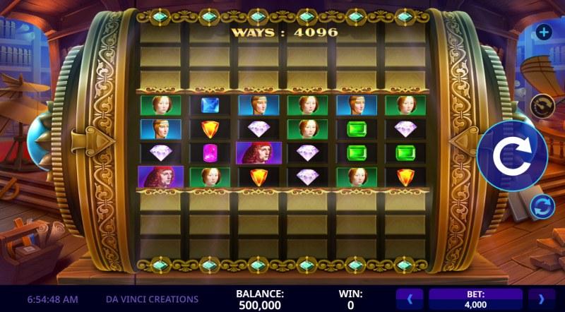 Da Vinci Creations :: Main Game Board