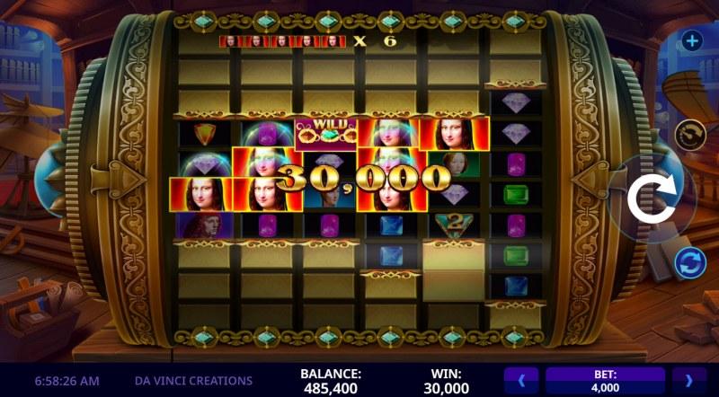 Da Vinci Creations :: Multiple winning paylines