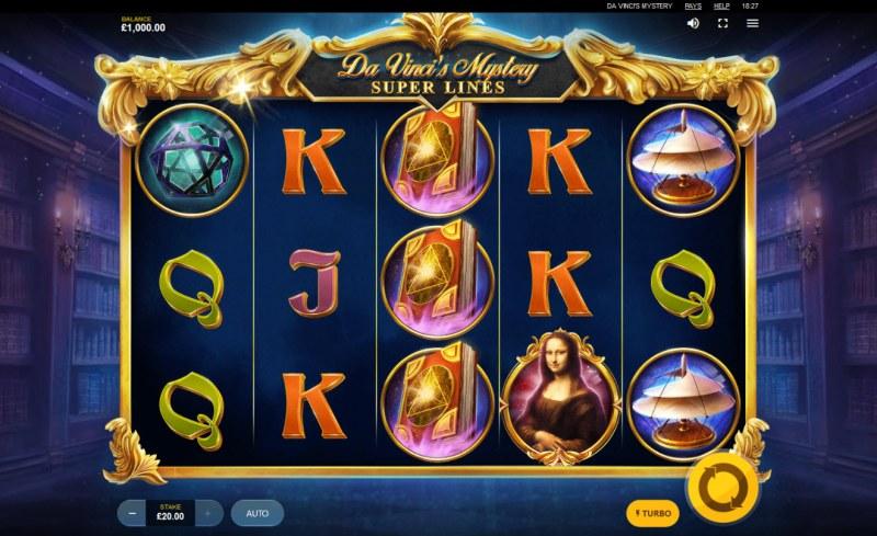 Da Vinci's Mystery Super Lines :: Main Game Board