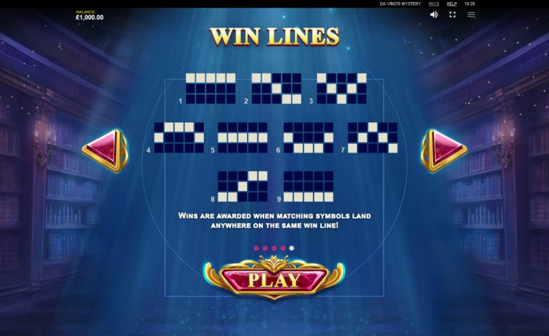 Play slots at Genesis Casino: Genesis Casino featuring the Video Slots Da Vinci's Mystery Super Lines with a maximum payout of $105,000