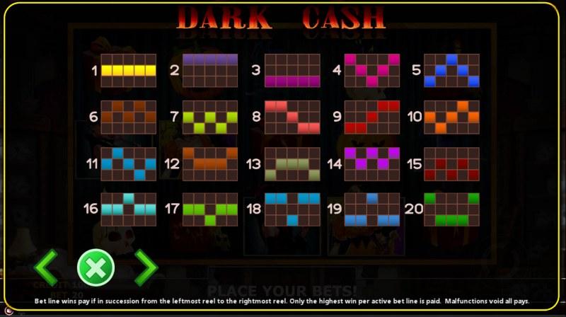 Dark Cash :: Paylines 1-20