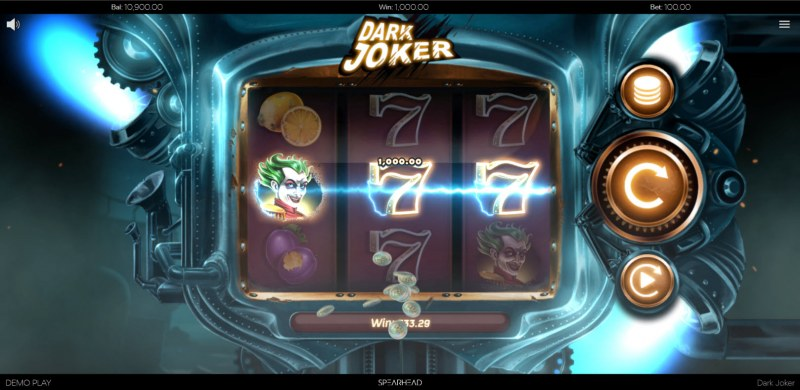 Dark Joker :: A three of a kind win