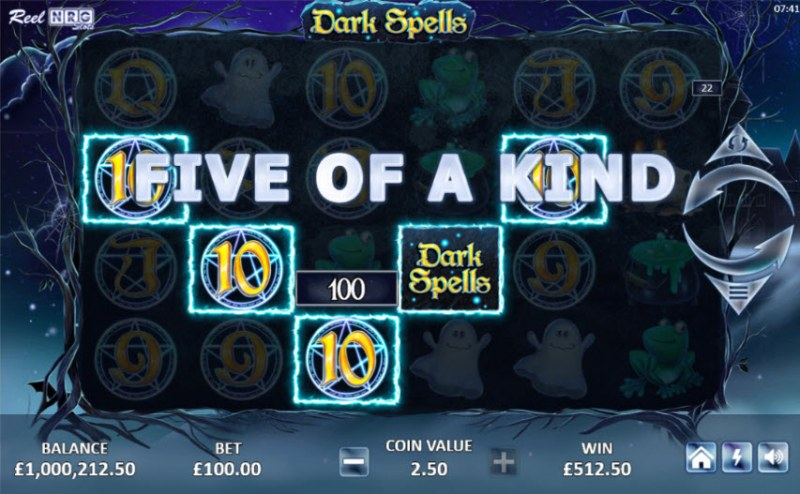 Dark Spells :: A five of a kind win