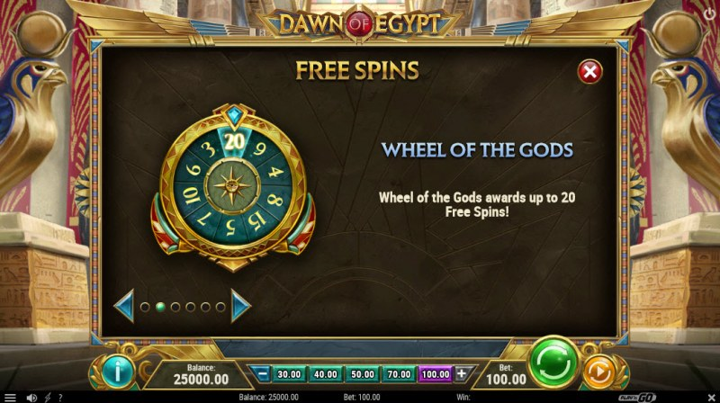 Dawn of Egypt :: Free Spins Rules