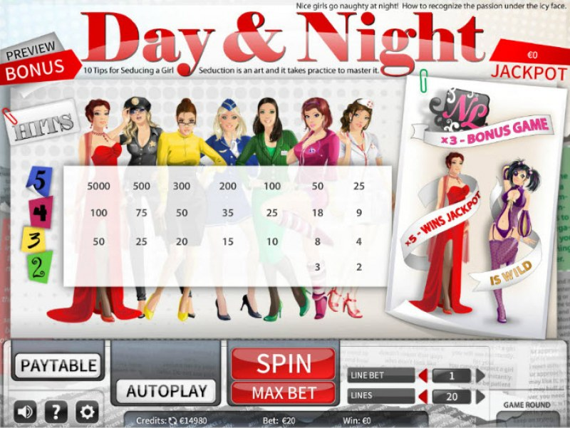 Day & Night :: Paytable
