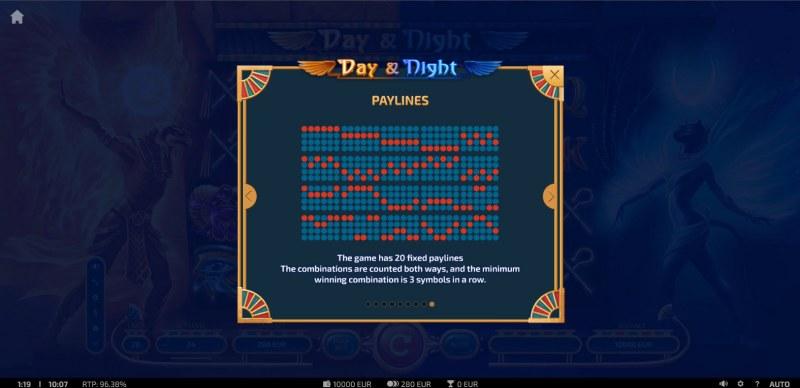 Day & Night :: Paylines 1-20