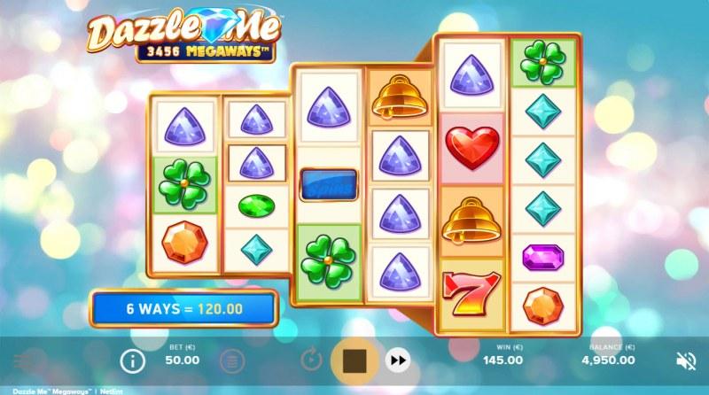 Dazzle Me Megaways :: Multiple winning combinations