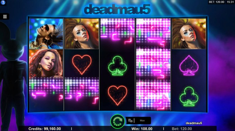Deadmau5 :: Winning symbols are removed from the reels and new symbols drop in place