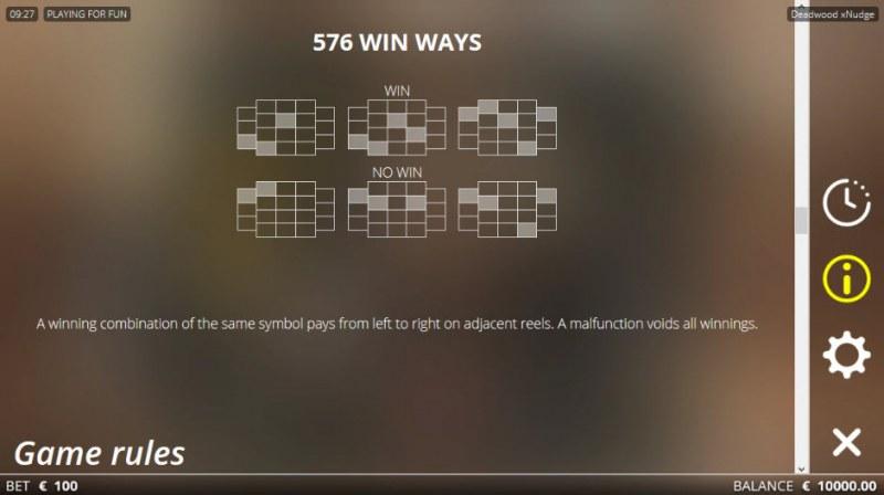 Deadwood :: 576 Ways to Win