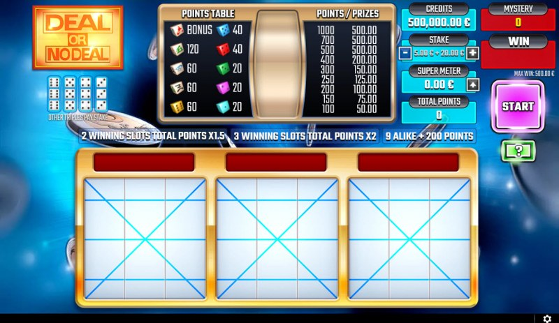 Deal or No Deal Blue :: Main Game Board