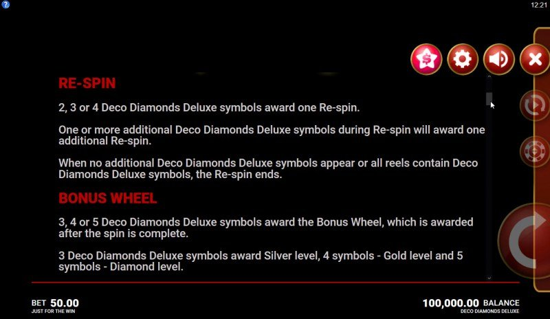 Deco Diamonds Deluxe :: Feature Rules