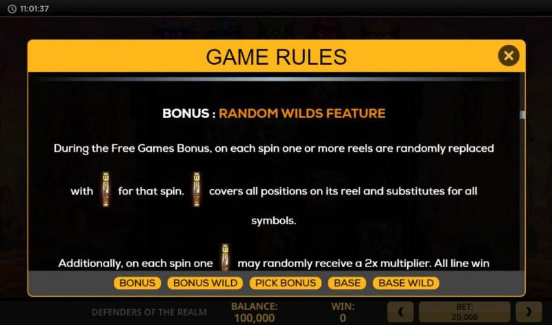 Defenders of the Realm :: Bonus Feature