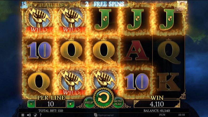 Demi Gods II 15 Lines :: Multiple winning combinations leads to a big win