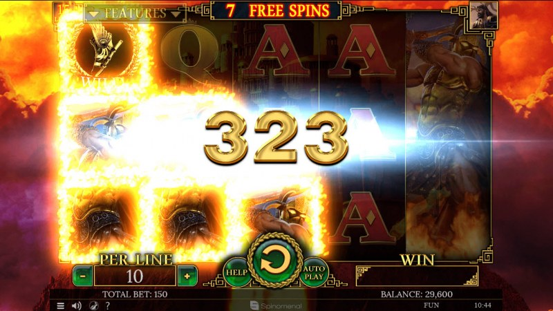Demi Gods II 15 Lines :: Free Spins Game Board