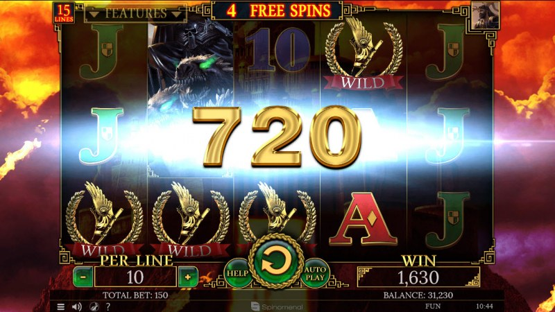 Demi Gods II 15 Lines :: Respin feature leads to multiple winning paylines